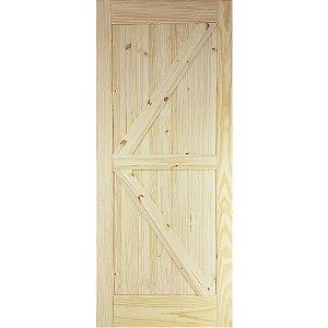 Porta De Madeira De Correr Tipo Celeiro Modelo K 1,10mx2,20m
