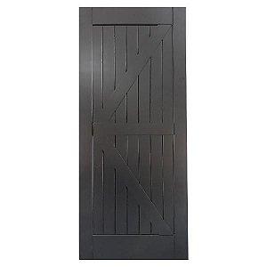 Porta De Madeira De Correr Tipo Celeiro Modelo K 1mx2,20m Black
