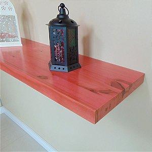 Prateleira de Madeira e Flutuante Sólida Rusty 46 cm Rosa
