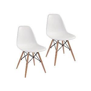 Jogo De Cadeira Eiffel 2 Cadeiras Brancas