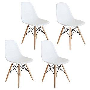 Jogo De Cadeira Eiffel 4 Cadeiras Brancas