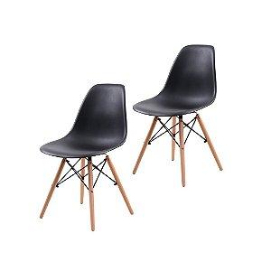 Jogo De Cadeira Eiffel 2 Cadeiras Pretas