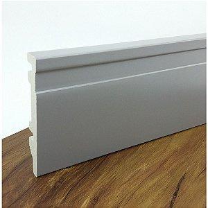 Rodapé de Poliestireno Frisado Cinza 10 cm