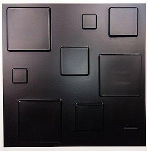 Revestimento de Parede 3d Quadratto Preto