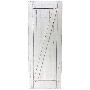 Porta de Correr Tipo Celeiro Z Vintage Goede Branco 100 x 220 cm
