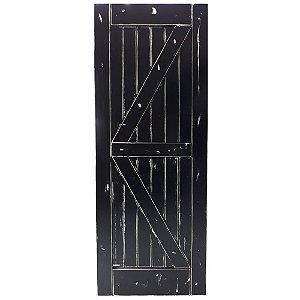 Porta de Correr Tipo Celeiro K Vintage Goede Preto 81 x 213 cm