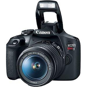 Câmera Canon EOS Rebel T7 DSLR com lente 18-55mm