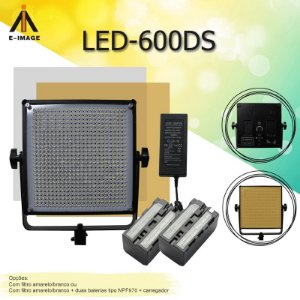Iluminador de LED E-Image LED-600DS Kit