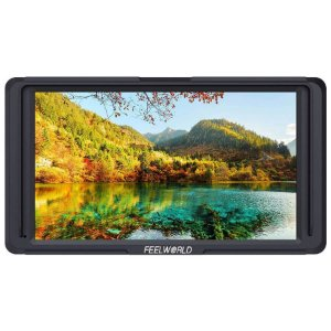 """Monitor Para Câmeras FeelWorld F5 5.0"""" Full HD com Suporte 4K e Braço Tilt"""