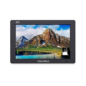 "Monitor Para Câmeras FeelWorld FW703 7"" IPS 3G-SDI 4K HDM"