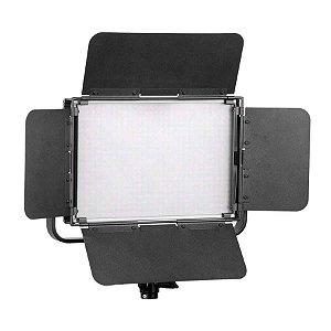 Kit Iluminador LED Greika GK-1000B Pro com Baterias Carregadores e Fonte