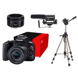 Combo Câmera Canon EOS Youtuber SL3 com Lente EF 50mm