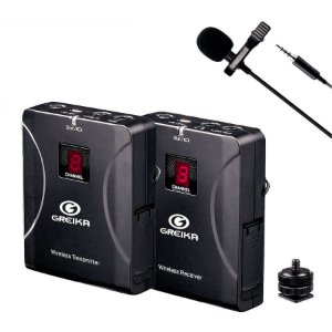 Sistema de Microfone de Lapela sem fio Greika FO-G4