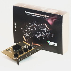 Placa de Captura de Vídeo PCI 2.0 Prostream QUAD-CAP HDMI