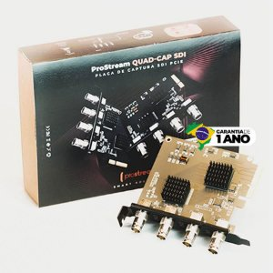 Placa de Captura de Vídeo PCI 2.0 Prostream QUAD-CAP SDI
