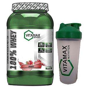 WHEY 100% VITAMAX-900G-COQUETELEIRA GRÁTIS