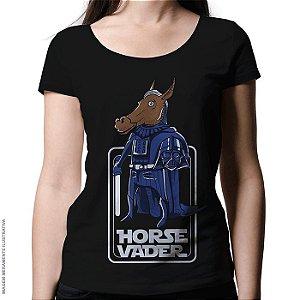 Camiseta Horse Vader - Feminina