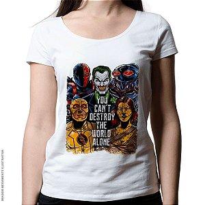 Camiseta Liga da Injustiça - Feminina