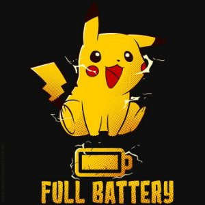 Camiseta Pikachu Full Battery - Masculina