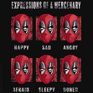 Camiseta Dead Pool Expressions - Masculina