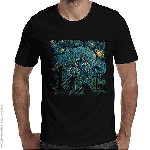 Camiseta Rick e Morty Noite Estrelada