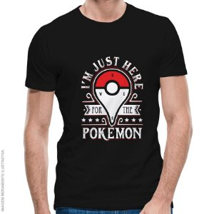 Camiseta Pokémon Catching Monsters - Masculina