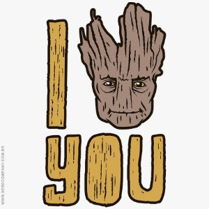 Camiseta I Groot You - Masculina