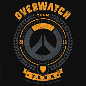 Camiseta Overwatch Team Tank - Masculina