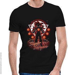 Camiseta Retro Super Saiyan - Masculina