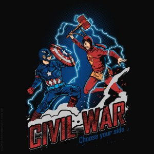 Camiseta Civil War - Masculina