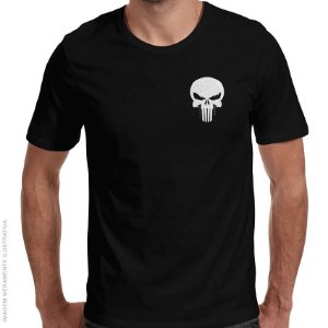 Camiseta Justiceiro - Pocket Hero - Masculina