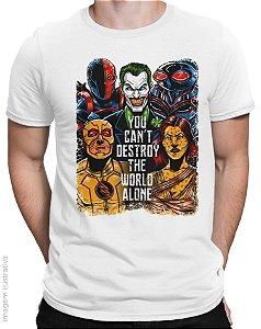 Camiseta Liga da Injustiça