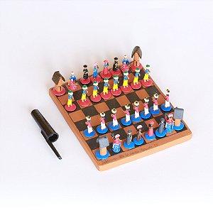 Miniatura Jogo de Xadrez Nordestino