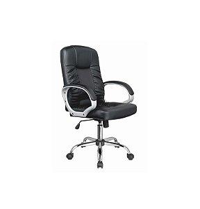 Cadeira para Escritório Presidente Master em Couro PU - Preto - Bulk