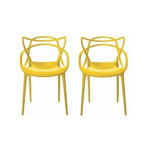 Cadeira Eames Urbana Amarelo (4 unidades)