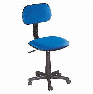 Cadeira Secretária Sem Braço - Azul - Bulk