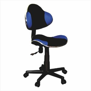 Cadeira para Escritório Anatômica - Preto/Azul - Bulk