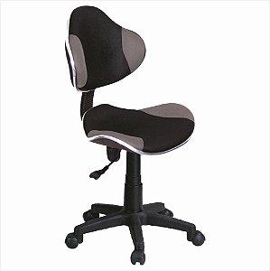 Cadeira para Escritório Anatômica - Preto/Cinza - Bulk