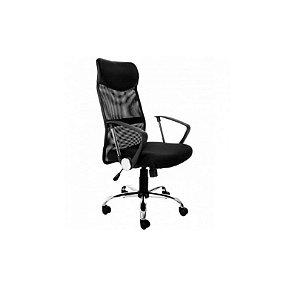 Cadeira para Escritório Presidente em Tela Mesh - Preto - Bulk
