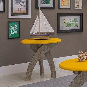 Mesa de Apoio Jade Amarelo/Canela