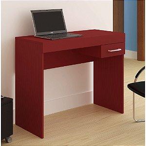 Mesa para Notebook Cooler 1 Gaveta Vermelho - Artely