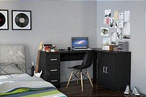 Kit escritório Espanha Preto