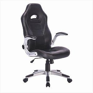 Cadeira Gamer Giratória - Preto - Bulk