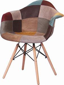 Cadeira Eames Patchwork com Braço - 02 (unidades)