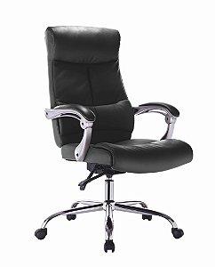 Cadeira para Escritório Presidente Premium  Reclinável - Preto - Bulk