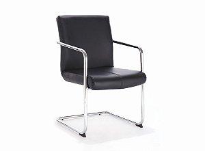 Conjunto 02 Cadeiras Fixa Visitante Master Preto - Bulk