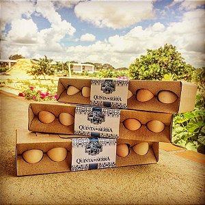 Ovos caipiras QUINTA DA SERRA (dúzia)