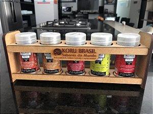 KORU BRASIL - Kit Sabores do Mundo (5 sabores do Oriente com embalagem)