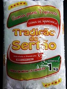 TRADIÇÃO DO SERTÃO - Goma de mandioca para tapioca (pacote 1kg)