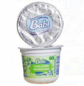 BABI - Coalhada desnatada natural (140g)